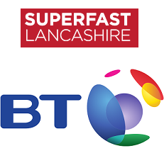 Superfast Lancashire BT Logo