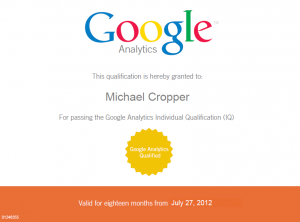 google-analytics-individual-qualification-michael-cropper