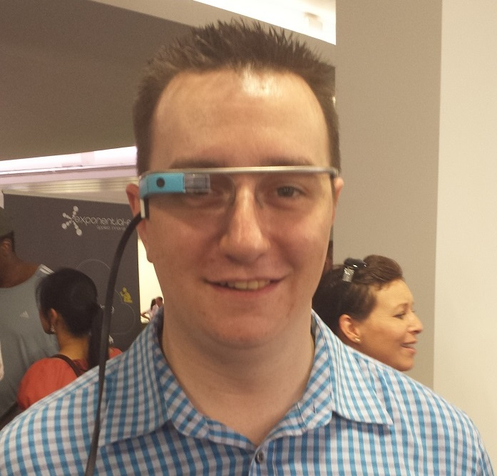 Trying out Google Glass
