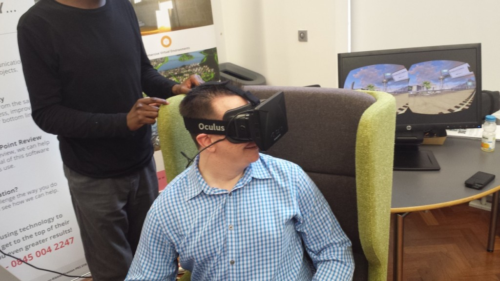 Trying out the Oculus Rift