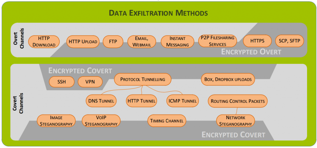 Data Exfiltration Methods Infographic