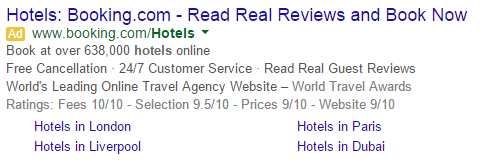 Google Search Network Text Advertisement