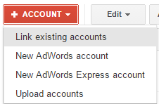 Google AdWords My Client Centre Link Existing AdWords Account