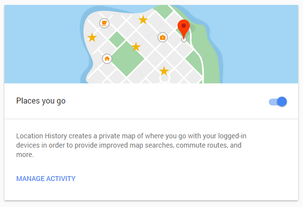 Turn off Google Location Tracking