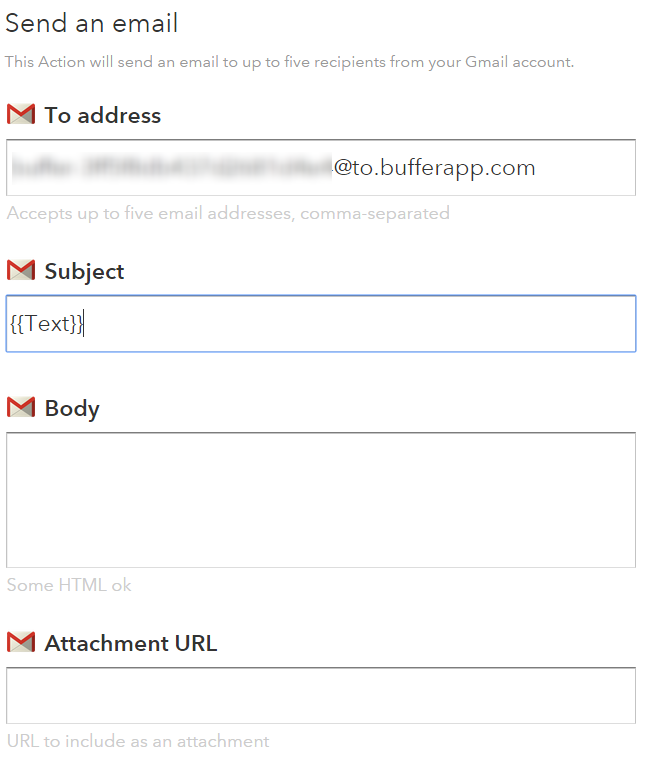 IFTTT Gmail to Buffer