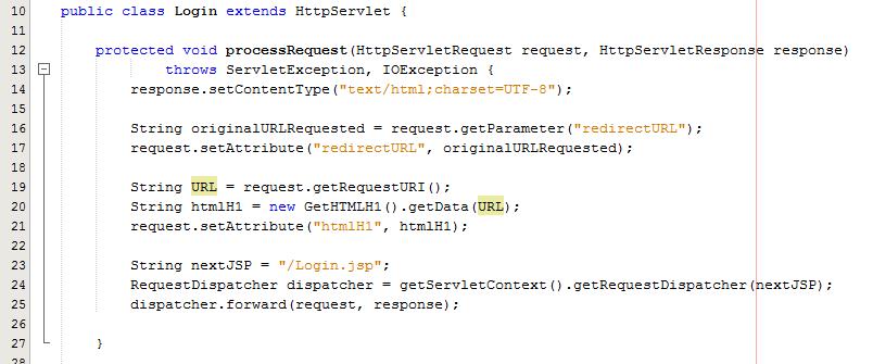 Controller Java Servlet Passing Data to JSP