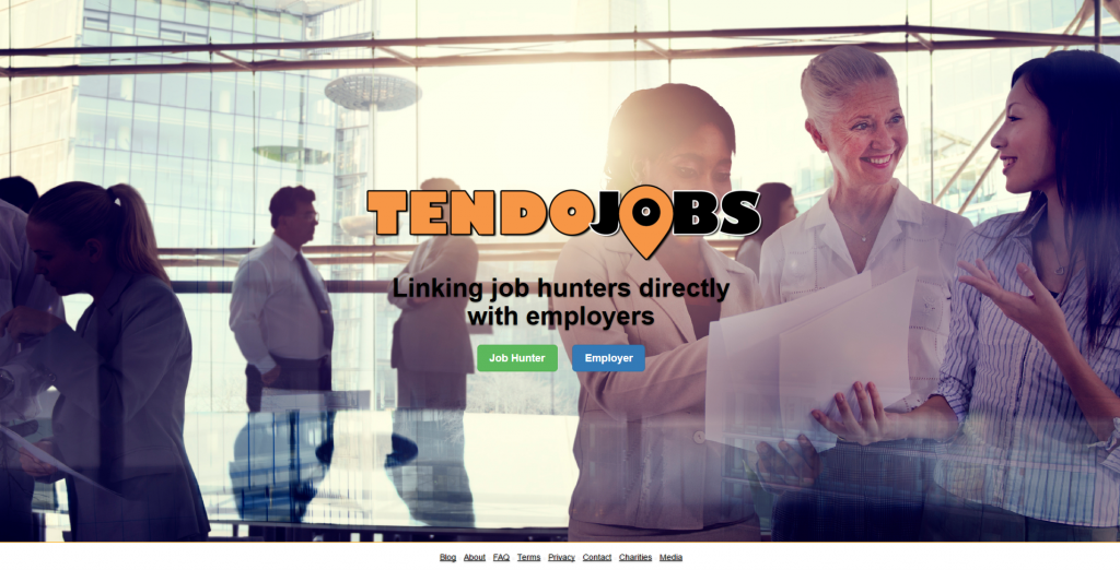 Tendo Jobs Homepage